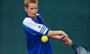 Andy Murray at junior championships