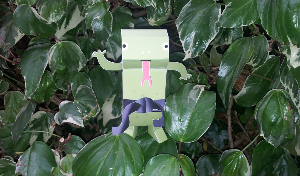 Build a super-cool Komodo paper toy