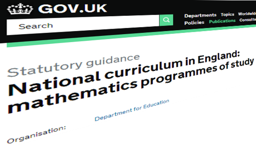 What's changing in the primary maths curriculum in 2014?