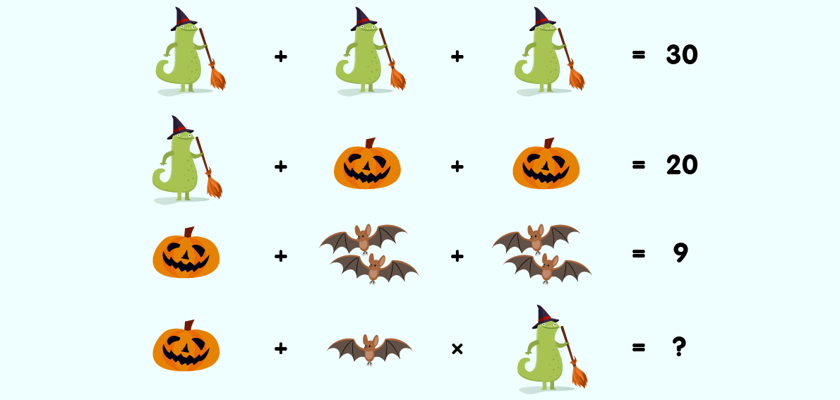 Answer To Komodo Maths Halloween Puzzle